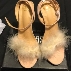 Nude Feather Sandals